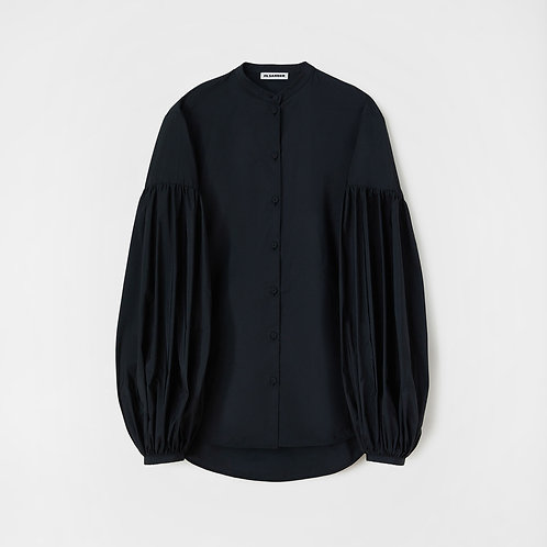 JIL SANDER. Long-sleeved sculptural shirt with gathered sleeve detail