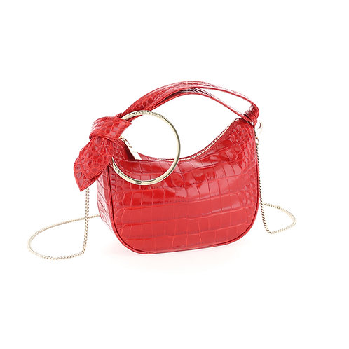 BORBONESE. Luna Bag Petite Leather Hobo Bag