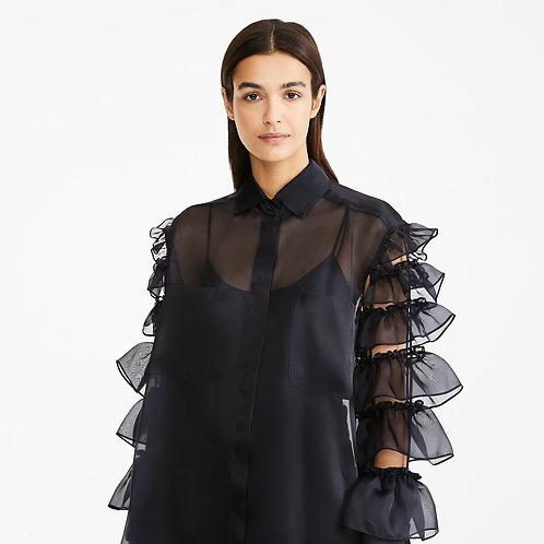 MAX MARA. Silk organza shirt