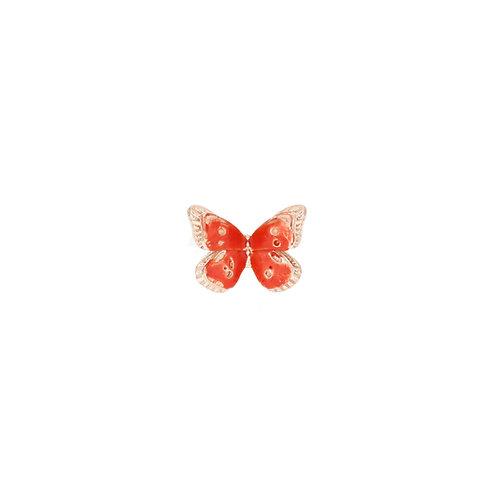 MAMAN ET SOPHIE FARFALLE. Orecchino a Lobo con Farfalla Arancione