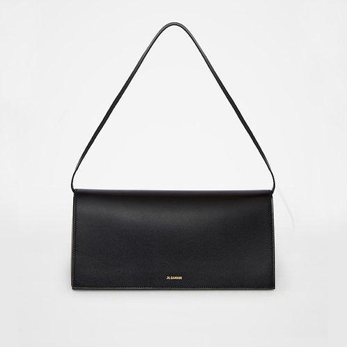 JIL SANDER. Medium size leather shoulder bag with an embossed Jil Sander logo
