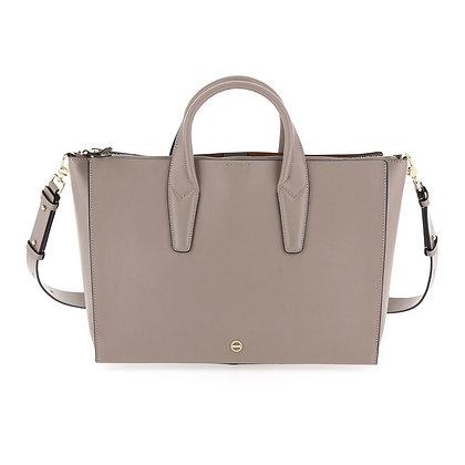 BORBONESE. Printed Calfskin Threefold Handbag.