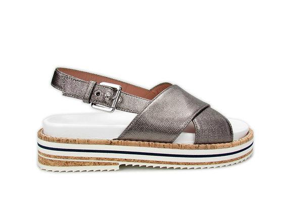 L'AUTRE CHOSE. Canvas Chrome Sandals.