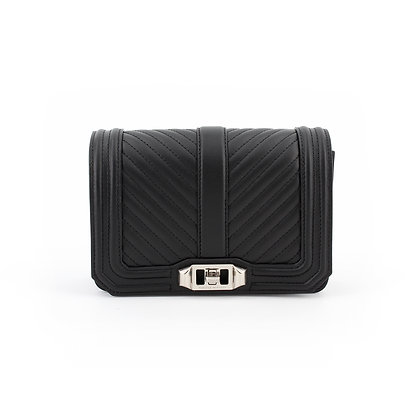 REBECCA MINKOFF. Quilted Small Love Crossbody.