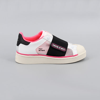 MOA 1273. Braker White Leather Pink Details.