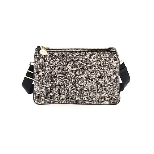 BORBONESE. Small Crossbody Bag. Sustainable Selection. OP Nylon