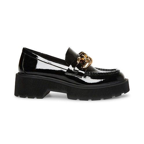 STEVE MADDEN. Meadow Black Patent Lather Shoes