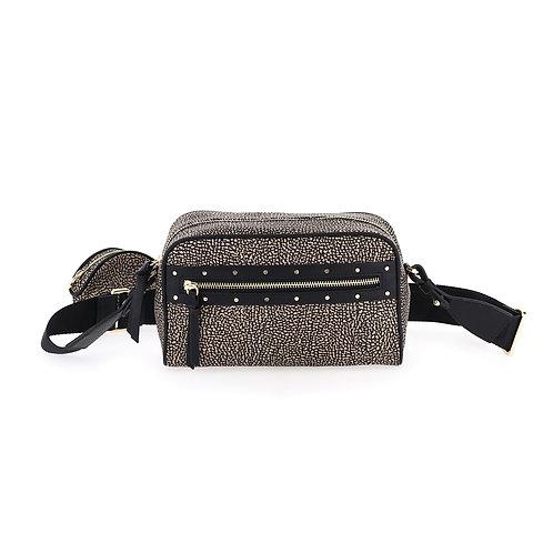 BORBONESE. Janis Camera Case. Sustainable Selection. Recycled Nylon Minibag