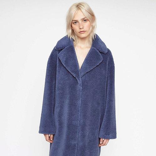 STAND STUDIO. Camille Cocoon Coat Haze Blue