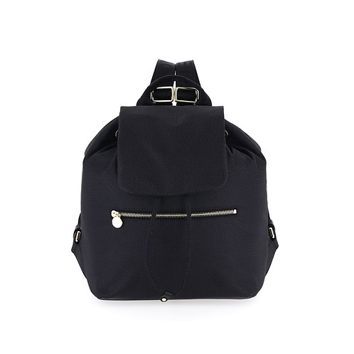 BORBONESE. Backpack Medium. Sustainable Selection. Recycled Nylon Backpack
