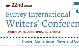 Good news: Honourable mention in Surrey International Writers Conference contest