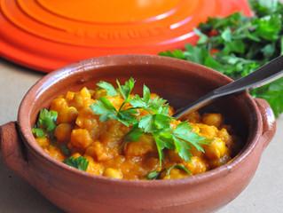 Curry de grão-de-bico e abóbora!
