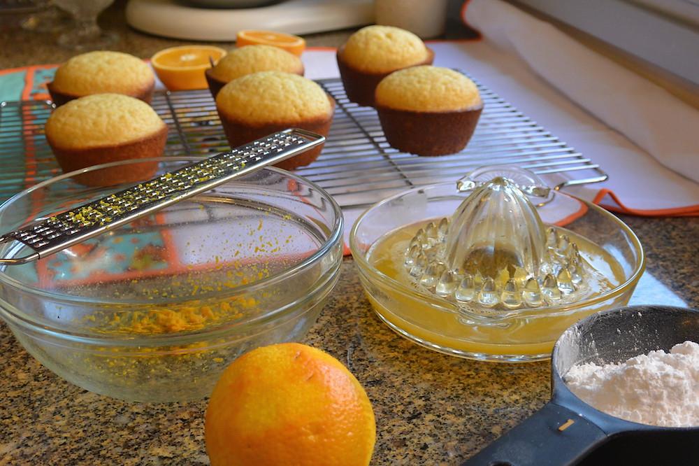 Muffins de laranja