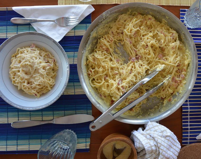 carbonara, massa, homemade pasta