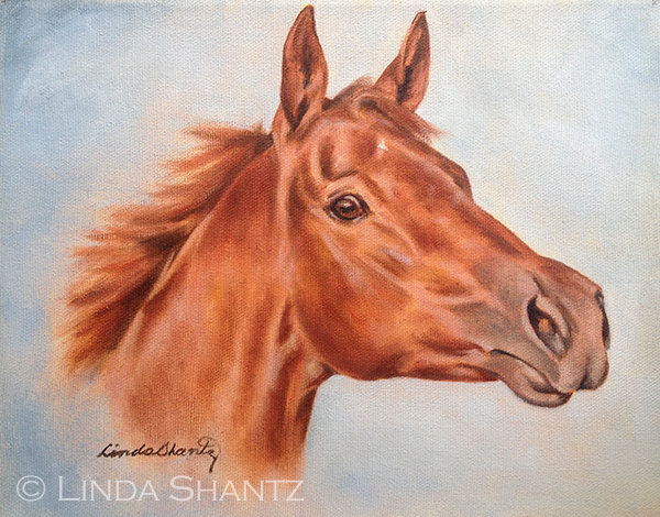 """Fire Filly,"" original oil on canvas"