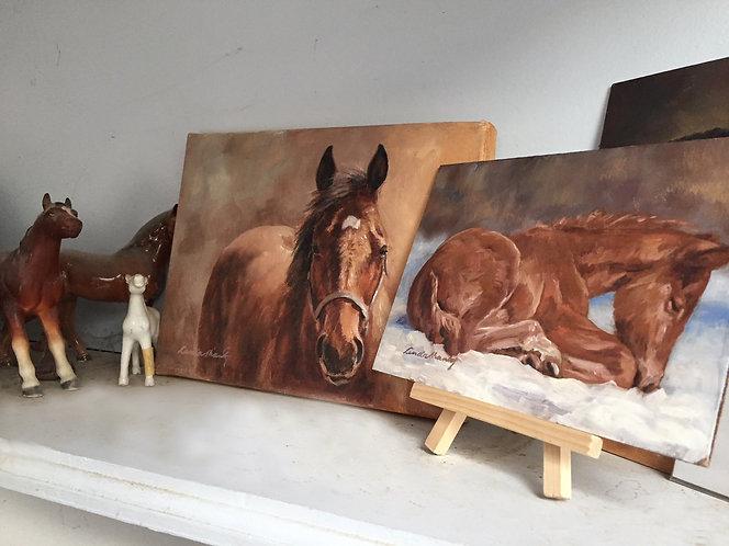 """""""Keepsake"""" Portrait – 8 x 10 oil sketch"""
