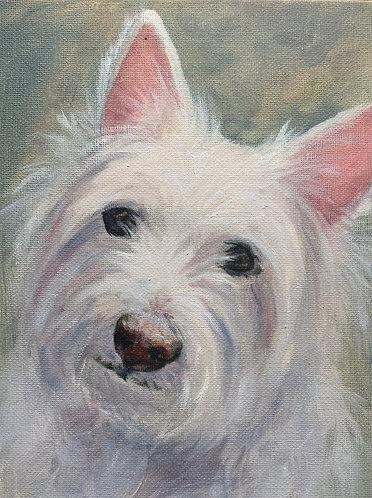 """""""Keepsake"""" Portrait – 5 x 7 oil sketch"""