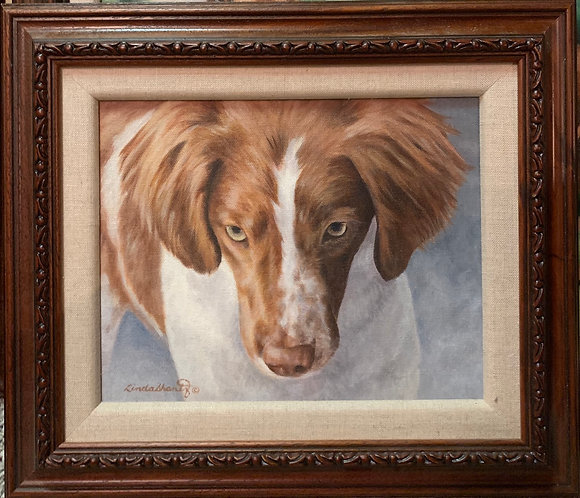 """""""Lara, Up Close And Personal,"""" 8 x 10 original oil on linen, framed"""