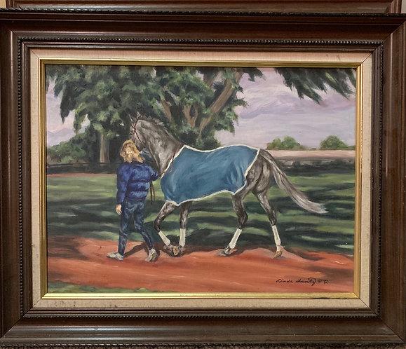 """Dallas,"" 12 x 16 oil on linen, framed."