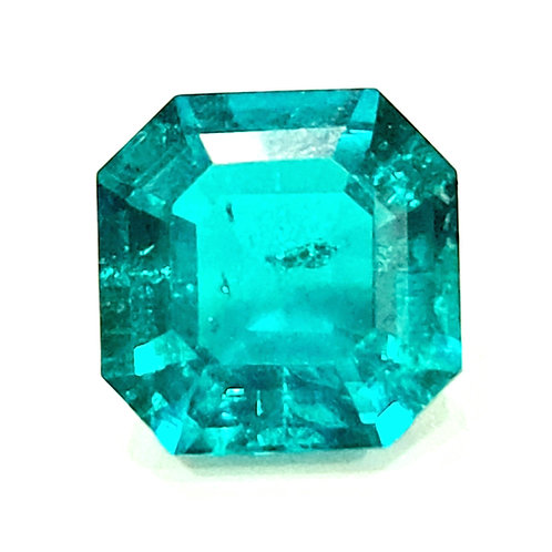 Colombian color created Emerald 10x10x6 mm 3.9 ct