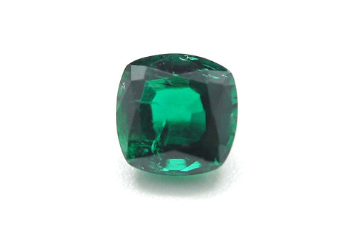 Hydrothermal Emerald Regular color, Antique Cushion cut 9x9 mm, Weight 3.05 cts