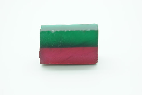 """Hydrothermal Bi-color Beryl """"Watermelon"""", Length 19 mm, Weight 10.60 cts"""
