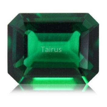 Created Emerald Regular Color Octagon