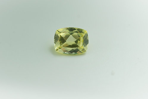 Created Yellow Sapphire, Antique Cushion shape 9x7 mm. Weight 2.78 cts