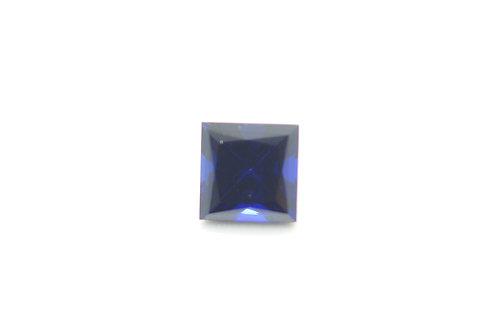 Created Dark Blue Sapphire, Princess cut 6x6 mm, Weight 1.52 cts