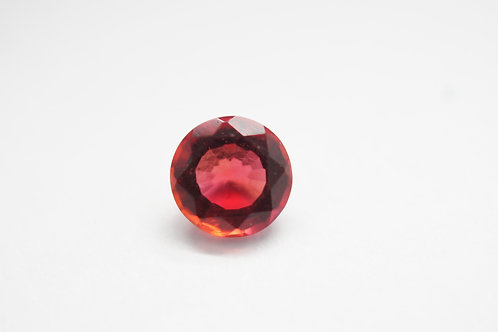 Hydrothermal Red color beryl, Round 6.5 mm, Weight 0.81 cts