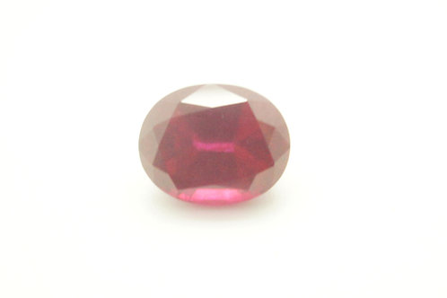 Hydrothermal Ruby, Oval 10x8 mm,Weight 4.10 cts