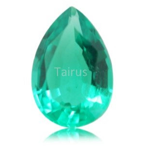 Created Emerald Colombian Color  Pear