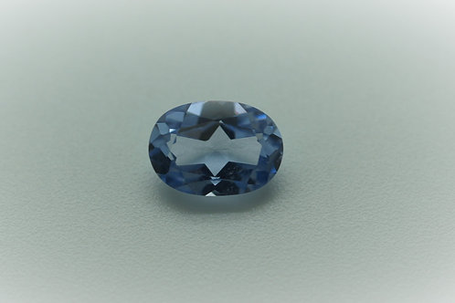 Pulled Light Blue Spinel, Oval 7x5 mm, Weight 0.91 cts