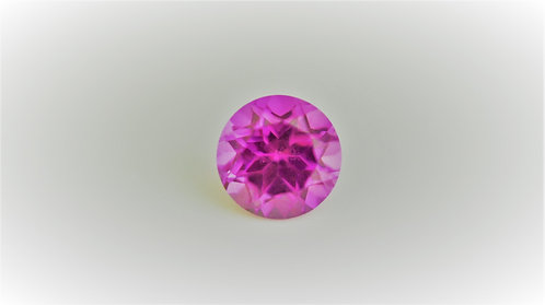 Created Pink Sapphire, Round 6 mm, Weight 1.18 cts