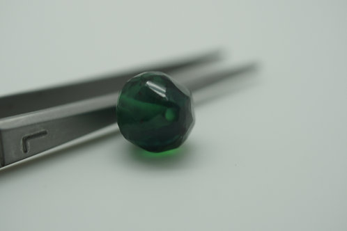 Hydrothermal Emerald Rock Bead with 1.0 mm hole, Length 12 mm, Weight 7.0 cts