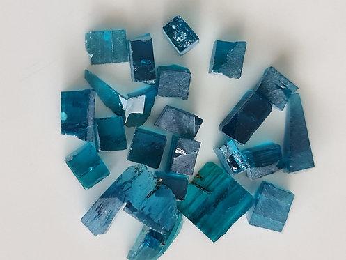 Blue beryl, hydrotormally grown