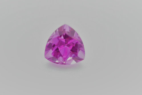 Created Pink Sapphire, Trillion 9x9 mm, Weight 3.46 cts