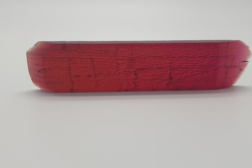 Hydrothermal Red Beryl, Thickness 5.2 mm, Length 95 mm, Weight 110.61 cts