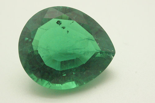 Hydrothermal Emerald Colombian color, Pear 19x16 mm, Weight 16.11 cts