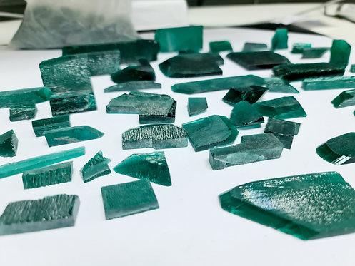 Platinum type Created emerald wholesale lot 847 gr (4200 ct)