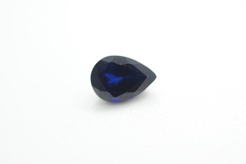 Created Dark Blue Sapphire, Pear 7x5 mm, Weight 0.88 cts