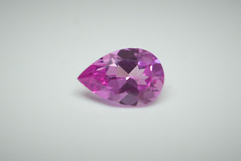 Created Pink Sapphire, Pear shape 9x6 mm, Weight 1.56 cts