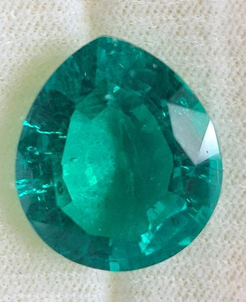 Columbian color created Emerald 19x16 pear 16.11 ct  shape