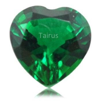 Created Emerald Regular Color Heart