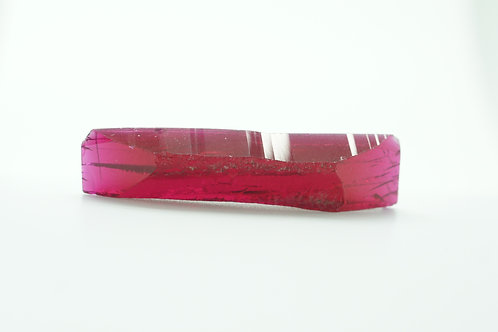 Hydrothermal Ruby, Length 42mm, Width 10mm, Thickness 5.7mm, Weight 29.84cts