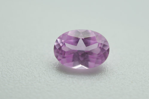 Created Pink Sapphire, Oval 7x5 mm, Weight 0.97 cts