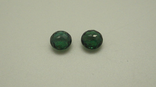 Hydrothermal Emerald Regular, Old Mine Cut, Round 6 mm, Pair, Weight 1.56 cts