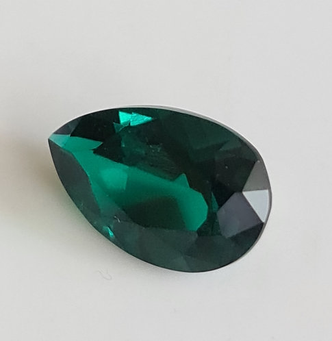 Created Emerald 14x9 pair shape flower cut
