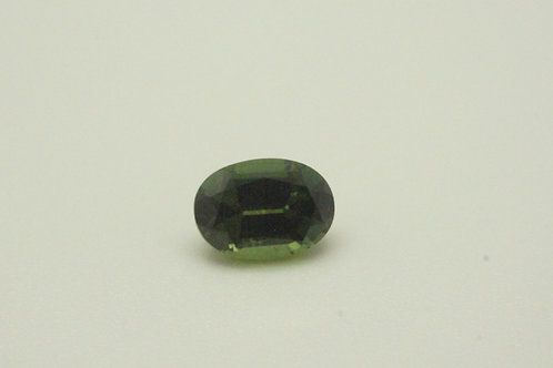 Hydrothermal Green Sapphire, Oval 7x5 mm, Weight 1.25cts