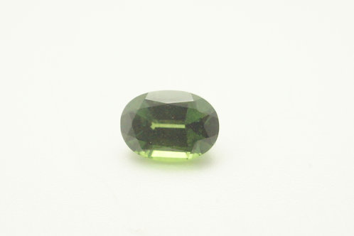 Hydrothermal Green Sapphire, Oval 7x5 mm, Weight 1.18 cts